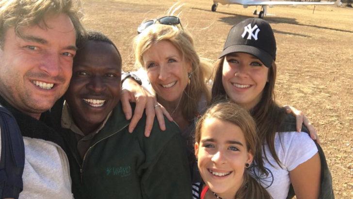 Gezin op reis in Tanzania